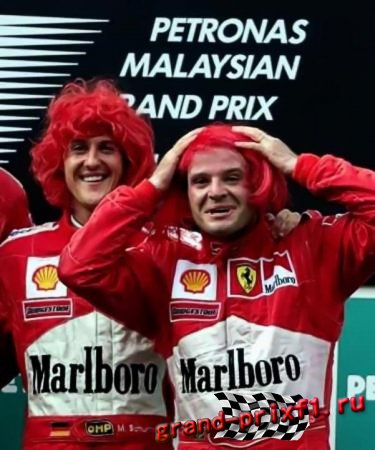 Шумахер и Барикелло в рекламе FIAT