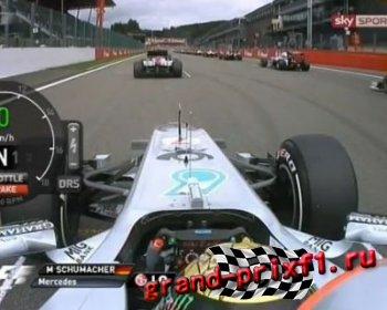 Старт Шумахера в Спа 2011