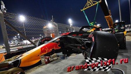 Авария Ферстаппена в Квалификации Бахрейн 2018